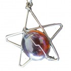 Pendant ... Red Murano Star with PU Suede Thong